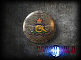 The Regiment of the Royal Artillery: Large 58mm Metal Bottle Opener Fridge Magnet - Black Halo Design  - 3