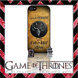 (NEW) ★ GAME OF THRONES ★ COVER/CASE FOR APPLE IPHONE 5 & 5S (SEASON 4) 5 G/5G  - Black Halo Design  - 10
