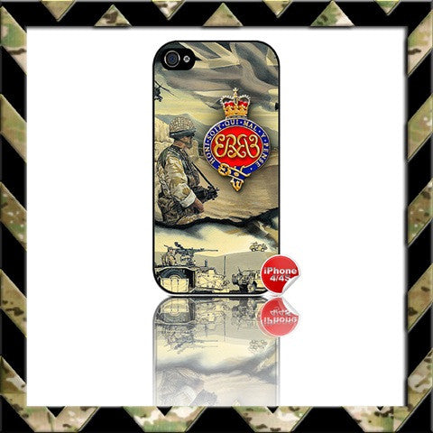 ★ THE GRENADIER GUARDS ★ COVER FOR APPLE IPHONE 4/4S AFGHANISTAN - Black Halo Design