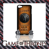 ★ GAME OF THRONES COVER/CASE FOR  APPLE IPOD TOUCH 5TH GENERATION 5/5G/GEN - Black Halo Design  - 9