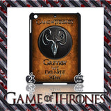 ★ CHOICE OF GAME OF THRONES HOUSE CRESTS ★ CASE/COVER FOR  APPLE IPAD AIR #2 - Black Halo Design  - 8