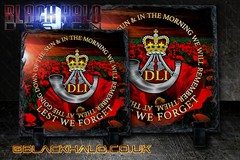 DLI Durham Light Infantry Natural Rock Slate in choice of sizes