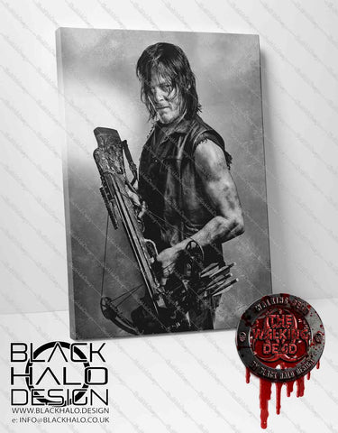 Daryl Dixon from The Walking Dead Timber Framed Canvas (Choice of Sizes)