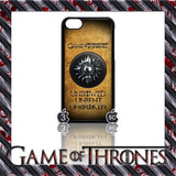 (NEW) ★ GAME OF THRONES ★ COVER/CASE FOR  APPLE IPHONE 5C (SEASON 4) 5 C  - Black Halo Design  - 10