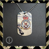 ★ CHOICE OF ROYAL AIR FORCE REGIMENT ★ DOG TAG NECKLACE/KEY RING/KEYRING/DOGTAG - Black Halo Design  - 4