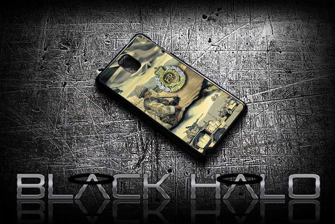 ★ THE ROYAL ENGINEERS CAMP BASTION ★ COVER/CASE FOR SAMSUNG GALAXY NOTE 2 / NOTE 3 / NOTE 4 (ARMY) - Black Halo Design