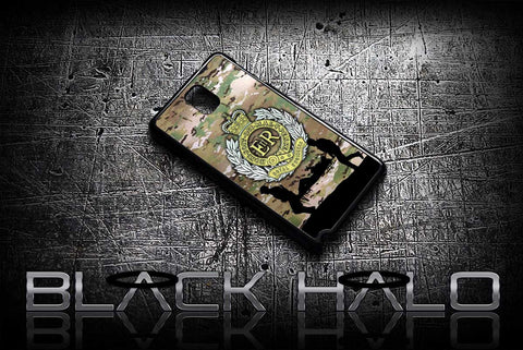 ★ THE ROYAL ENGINEERS - MULTI-CAM ★ COVER/CASE FOR SAMSUNG GALAXY NOTE 2 / NOTE 3 / NOTE 4 (ARMY) - Black Halo Design