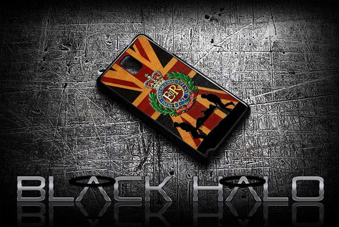 ★ THE ROYAL ENGINEERS - UNION JACK ★ COVER/CASE FOR SAMSUNG GALAXY NOTE 2 / NOTE 3 / NOTE 4 (ARMY) - Black Halo Design