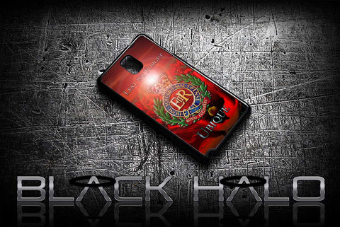★ THE ROYAL ENGINEERS - POPPY LEST WE FORGET★ COVER/CASE FOR SAMSUNG GALAXY NOTE 2 / NOTE 3 / NOTE 4 (ARMY) - Black Halo Design