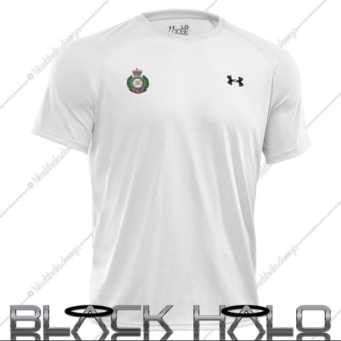 Royal Engineers Men's Under Armour UA Tech™ Short Sleeve T-Shirt (White) - Black Halo Design