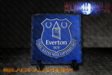 Everton Square Natural Rock Slate Standard or Personalised - Black Halo Design  - 1