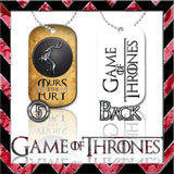 ★ CHOICE OF GAME OF THRONES ★ DOG TAG NECKLACE KEYRING/KEY CHAIN (DOGTAG) - Black Halo Design  - 5