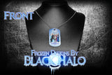 Disneys Frozen Double Sided Metal Pendant With Metal Ball Chain Necklace (Dog Tag) - Black Halo Design  - 2
