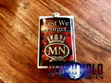 The British Merchant Navy (MN): Lest We Forget Stainless Steel 8oz Hip Flask