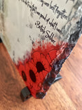 A British Soldier Poem: Poppy Natural Rock Slate with Stands