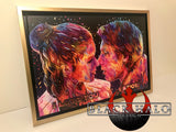 Han & Leia Canvas with floating shadow frame in choice of sizes