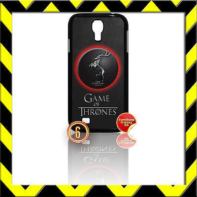 ★GAME OF THRONES★COVER FOR SAMSUNG GALAXY S4 IV/I9500 PHONE BARATHEON #6 - Black Halo Design