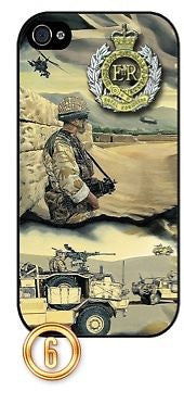 ★ THE ROYAL ENGINEERS(SAPPERS)AFGHANISTAN ★ PHONE COVER FOR IPHONE 4/4S(CASE)#6 - Black Halo Design