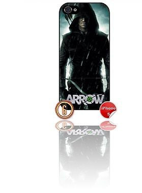 ★ ARROW DESIGN#6 ★ PHONE COVER FOR IPHONE 5 (CASE)GREEN#6 - Black Halo Design
