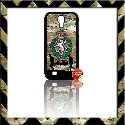 ★ WOMENS ROYAL ARMY CORPS(WRAC) COVER FOR SAMSUNG GALAXY S4/S IV/I9500 CASE ARMY - Black Halo Design