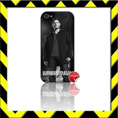 ★ SUPERNATURAL ★ COVER/CASE FOR APPLE IPHONE 5/5S JENSEN ACKLES#10 - Black Halo Design