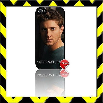 ★ SUPERNATURAL DEAN WINCHESTER★ COVER/CASE FOR APPLE IPHONE 5 Jensen Ackles #1 - Black Halo Design