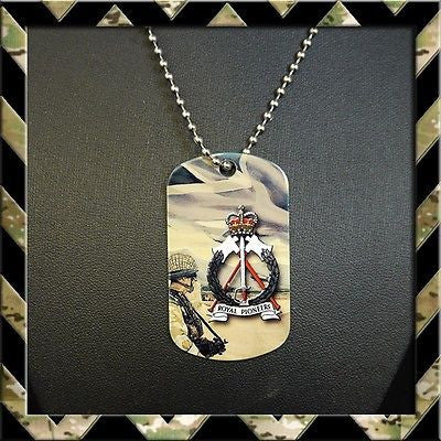 ★ THE ROYAL PIONEER CORPS (RPC) DOG TAG NECKLACE/KEYRING (ARMY/HELP FOR HEROES) - Black Halo Design