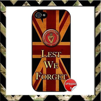 ★ ARMY ULSTER DEFENCE REGIMENT(UDR)★ PHONE COVER FOR IPHONE 5 LEST WE FORGET - Black Halo Design