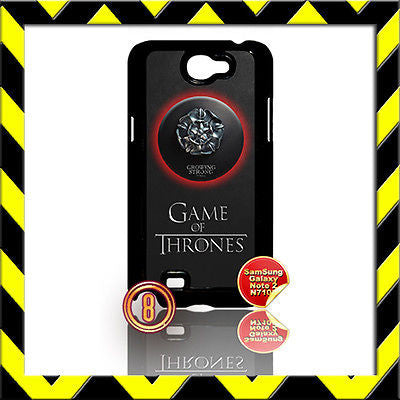 ★ GAME OF THRONES ★ FOR SAMSUNG GALAXY NOTE II/2/N7100 CASE TYRELL ROSE#8 - Black Halo Design