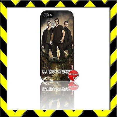 ★ SUPERNATURAL ★ COVER/CASE FOR APPLE IPHONE 5 SAM, DEAN & CASTIEL#6 - Black Halo Design
