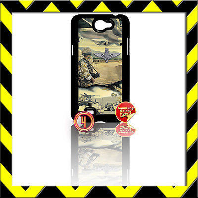 ★ THE PARACHUTE REGIMENT ARMY ★ COVER FOR SAMSUNG GALAXY NOTE II/2/N7100 PARA#4 - Black Halo Design