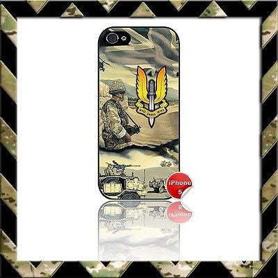 ★ THE SPECIAL AIR SERVICE (SAS)★ SHELL/CASE/COVER FOR IPHONE 5 AFGHANISTAN - Black Halo Design