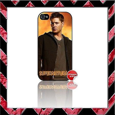★ SUPERNATURAL ★ COVER FOR IPHONE 4/4S SHELL CASE JENSEN ACKLES #4 - Black Halo Design