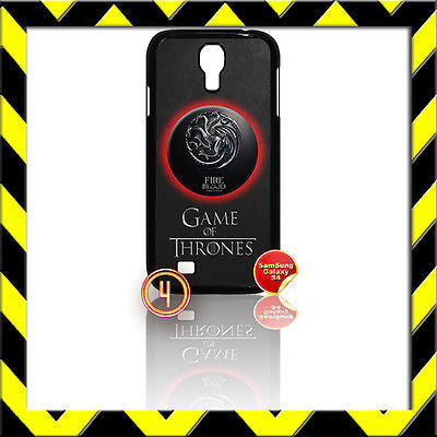 ★GAME OF THRONES★COVER FOR SAMSUNG GALAXY S4 IV/I9500 PHONE TARGARYEN DRAGONS #4 - Black Halo Design