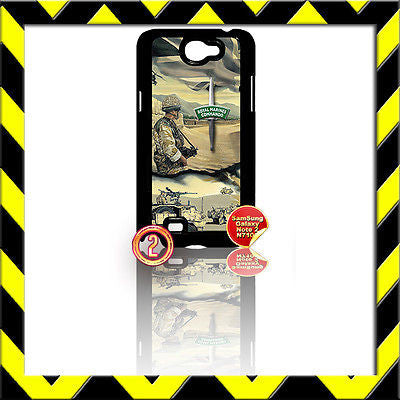 ★ ARMED FORCES ARMY★ COVER FOR SAMSUNG GALAXY NOTE II/2/N7100 ROYAL MARINE CDO#2 - Black Halo Design
