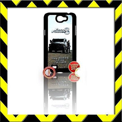 ★ FAST AND(&) FURIOUS 6 ★ COVER FOR SAMSUNG GALAXY NOTE II/2/N7100 THE ROCK#1 - Black Halo Design