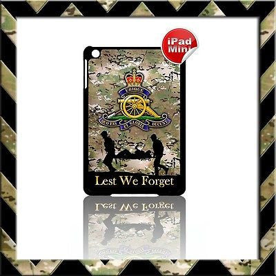 ★ THE ROYAL ARTILLERY (ARMY) ★ HARD SHELL/CASE FOR APPLE IPAD MINI CAMO#19 - Black Halo Design