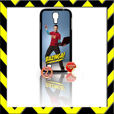 ★ THE BIG BANG THEORY ★ SHELL/COVER FOR SAMSUNG GALAXY S4 IV/I9500 SHELDON#2 - Black Halo Design