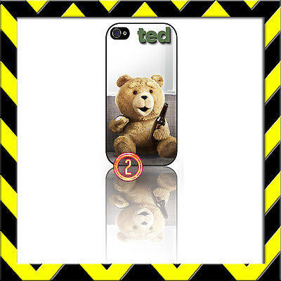 ★ TED ON COUCH ★ PROTECTIVE COVER FOR IPHONE 4/4S SHELL CASE SETH MCFARLAND#2 - Black Halo Design
