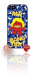 ★ MR BANG TIDY(KEITH LEMON)★ PHONE COVER FOR IPHONE 5/5S (CASE) GIRL CAMO#4 - Black Halo Design