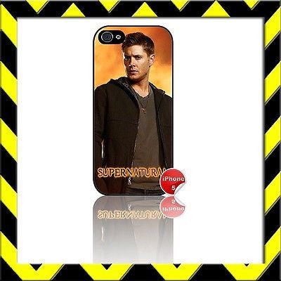 ★ SUPERNATURAL DEAN WINCHESTER★ COVER/CASE FOR APPLE IPHONE 5 JENSEN ACKLES#4 - Black Halo Design