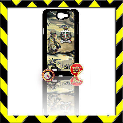 ★ THE ROYAL PIONEER CORPS ★ COVER FOR SAMSUNG GALAXY NOTE II/2/N7100 ARMY#7 - Black Halo Design
