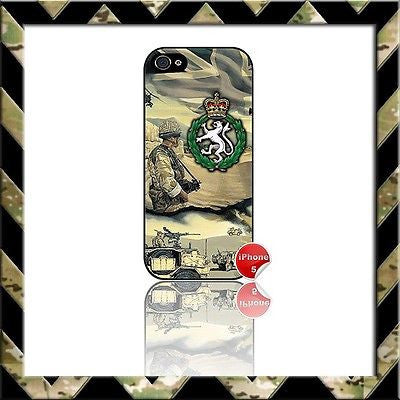 ★ WOMENS ROYAL ARMY CORPS (WRAC) ★ SHELL/COVER FOR IPHONE 5/5S - Black Halo Design