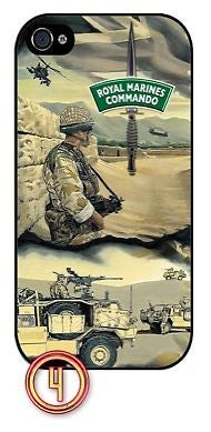 ★ ROYAL MARINES COMMANDO AFGHANISTAN ★ PHONE COVER FOR IPHONE 4/4S (CASE)#4 - Black Halo Design