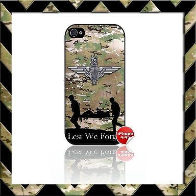 ★ THE PARACHUTE REGIMENT PARA SHELL/CASE/COVER FOR APPLE IPHONE 4/4S CAMO#3 - Black Halo Design