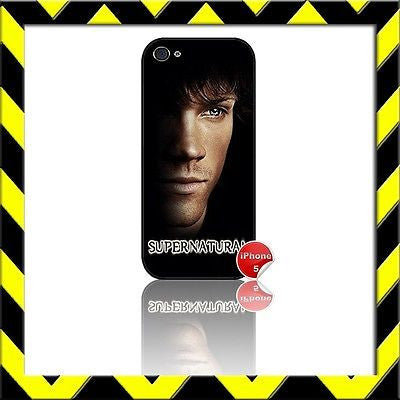 ★ SUPERNATURAL ★ COVER/CASE FOR APPLE IPHONE 5/5S JARED PADALECKI#7 - Black Halo Design