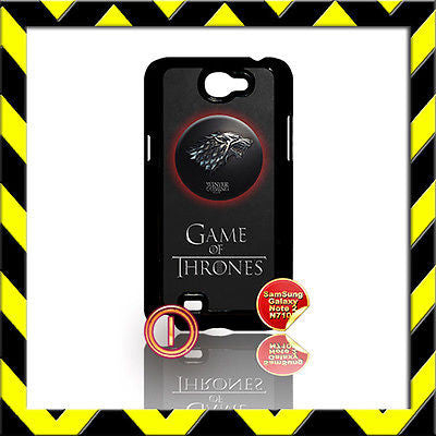 ★ GAME OF THRONES ★ COVER FOR SAMSUNG GALAXY NOTE II/2/N7100 PHONE CASE STARK#1 - Black Halo Design