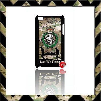 WOMENS ROYAL ARMY CORPS (WRAC) COVER FOR IPOD TOUCH 4/4TH GEN GENERATION 4G #22 - Black Halo Design