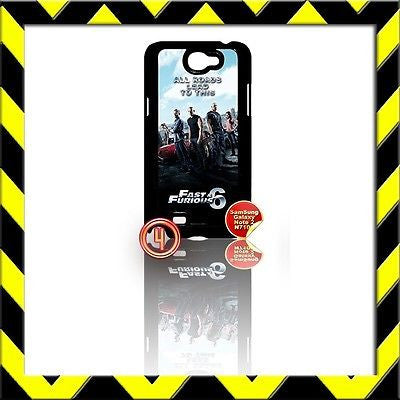 ★ FAST AND(&) FURIOUS 6 ★ COVER FOR SAMSUNG GALAXY NOTE II/2/N7100 THE CREW #4 - Black Halo Design