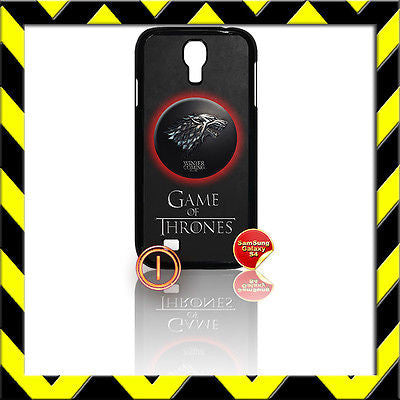 ★ GAME OF THRONES ★ COVER FOR SAMSUNG GALAXY S4 IV/I9500 PHONE CASE STARK WOLF#1 - Black Halo Design